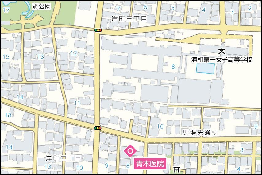 青木医院の地図