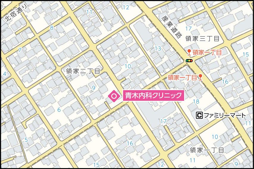 青木内科クリニックの地図
