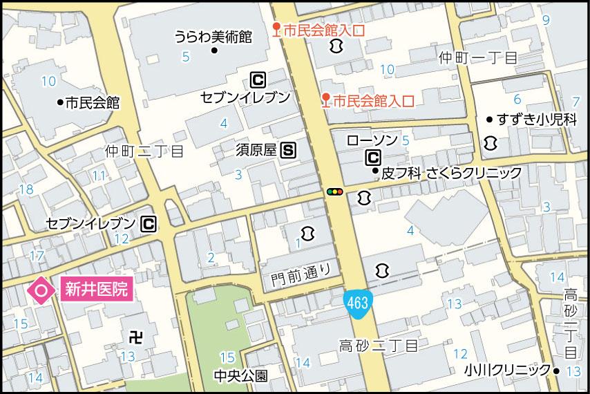 新井医院の地図