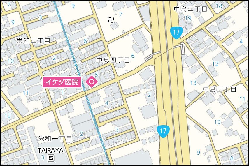 イケダ医院の地図