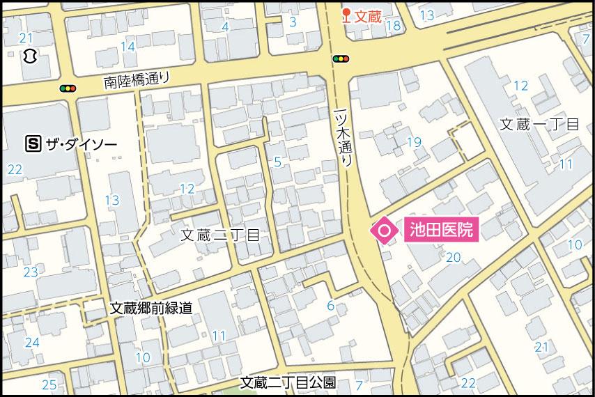 池田医院の地図