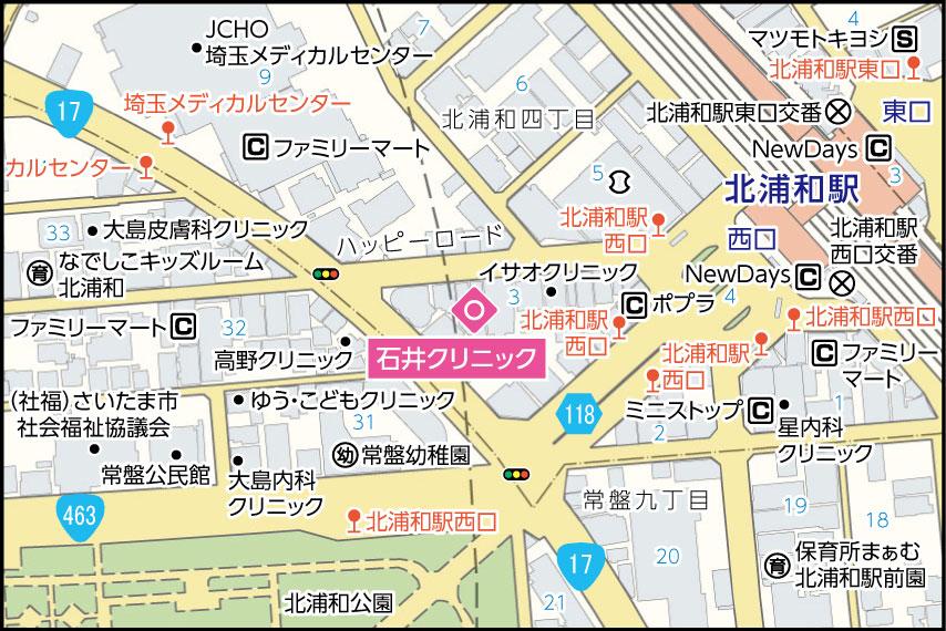 石井クリニックの地図