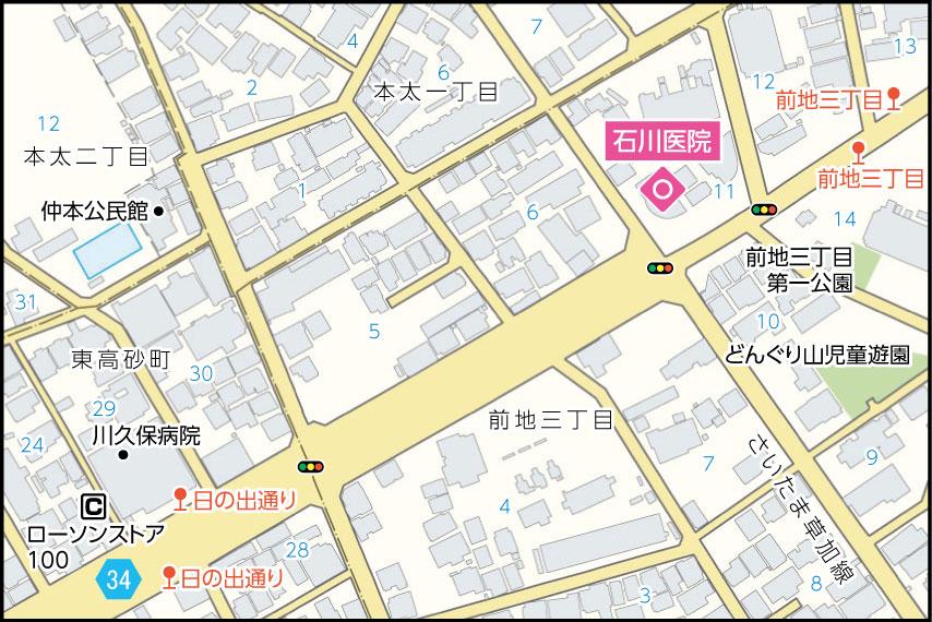石川医院の地図