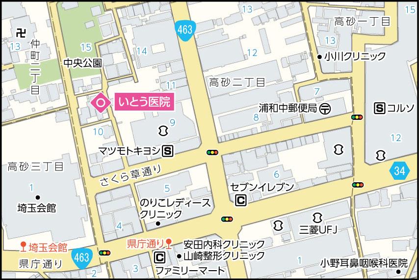 いとう医院の地図