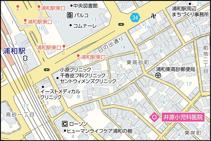 井原小児科医院の地図