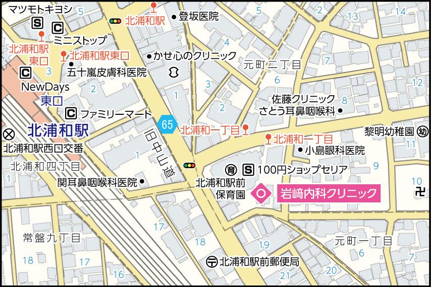 岩﨑内科クリニックの地図