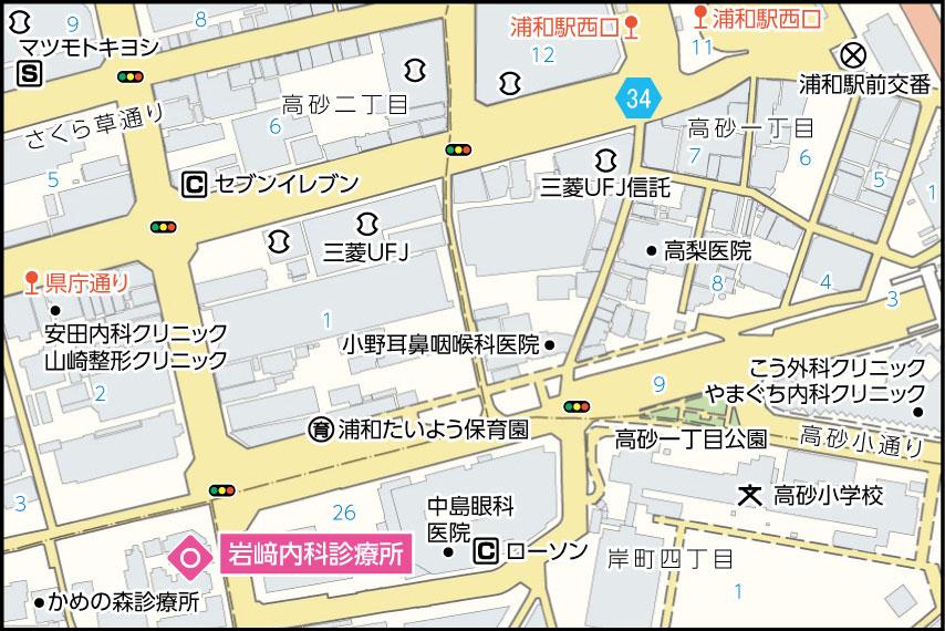 岩﨑内科診療所の地図