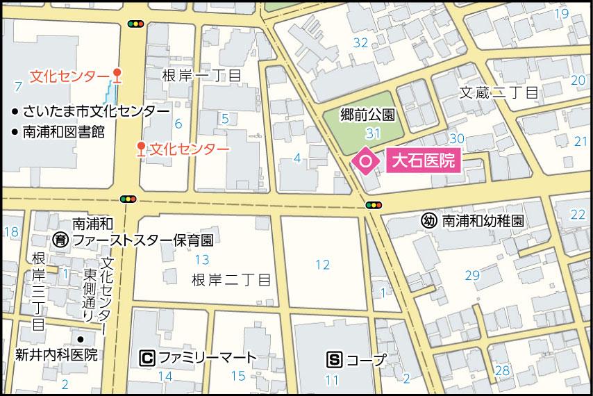 大石医院の地図