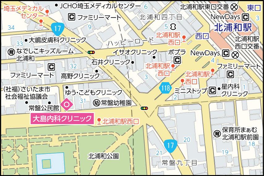 大島内科クリニックの地図