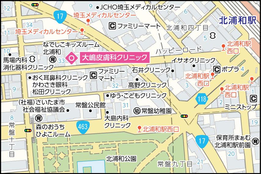大嶋皮膚科クリニックの地図