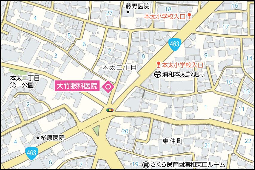 大竹眼科医院の地図