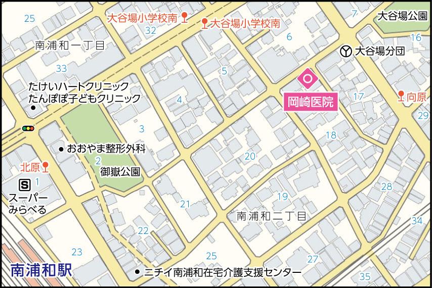 岡崎医院の地図