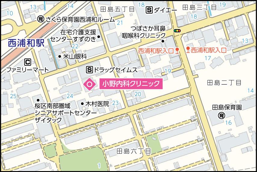 小野内科クリニックの地図