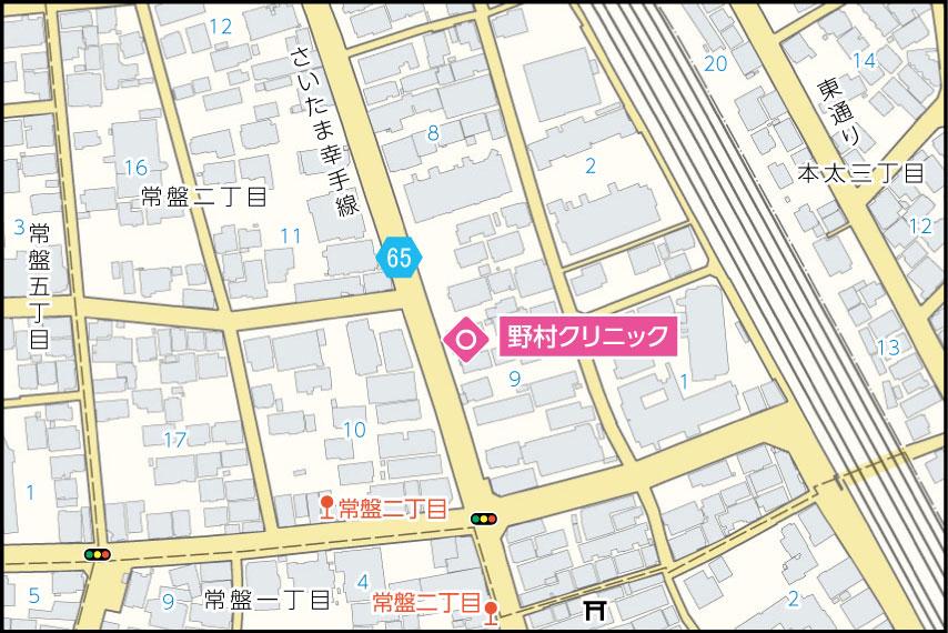 野村クリニックの地図